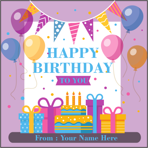 Happy Birthday To You Card With Name