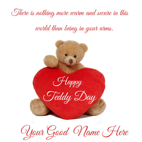 Happy Teddy Bear Day Wishes Name Picture