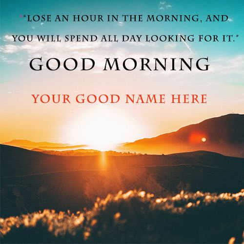 Good Morning Wishes With Smile Quotes Images With Name
