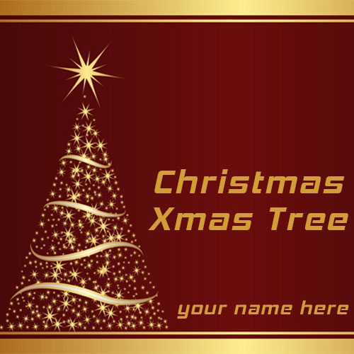 Merry Christmas Xmas Tree Images With Name and Picture