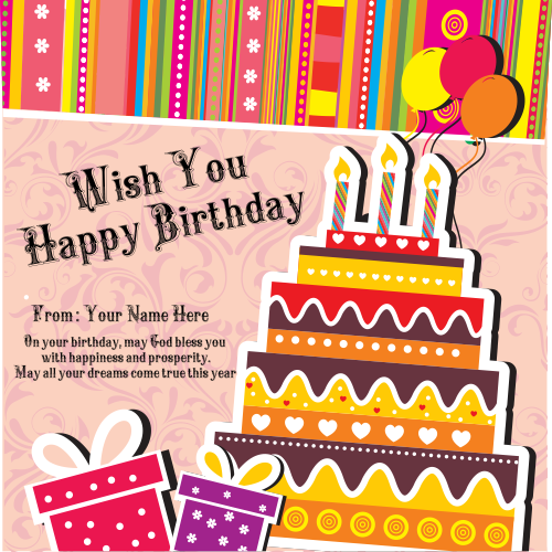 Write Birthday wishes Card With Name Pics