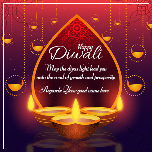 Happy Diwali Wishes Quotes Image 2021 With Name