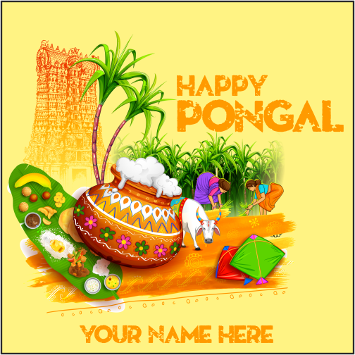 Advance Pongal Wishes 2019 With Name