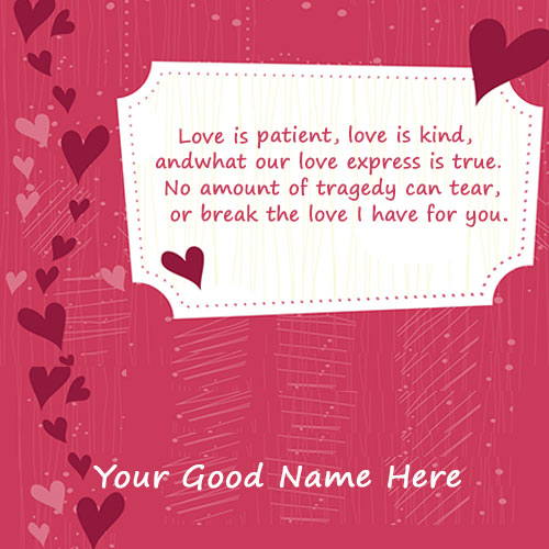 Write Name On Love you Greeting Cards Images