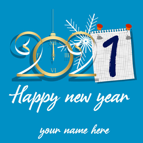 Happy New Year 2021 Images With Name Edit