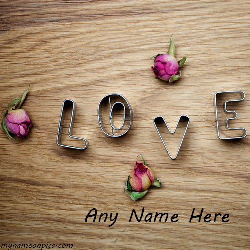 Write Name On Love Pic
