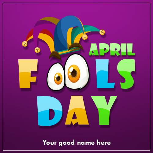 Write Name On Happy April Fools Day Image