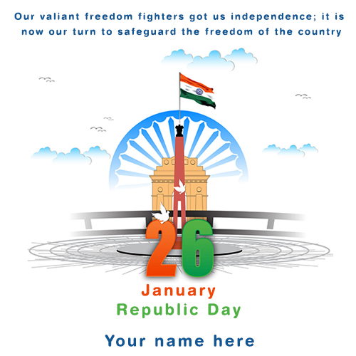 Write Name On Indian Flag Republic Day Images