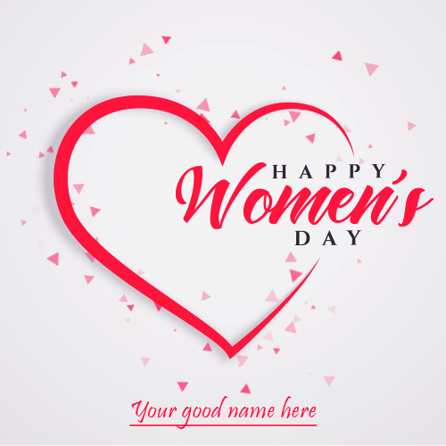 Happy Womens Day Whatsapp Profile DP With Name