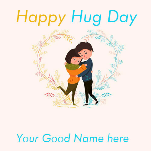 Happy Hug Day 2020 Images With Name