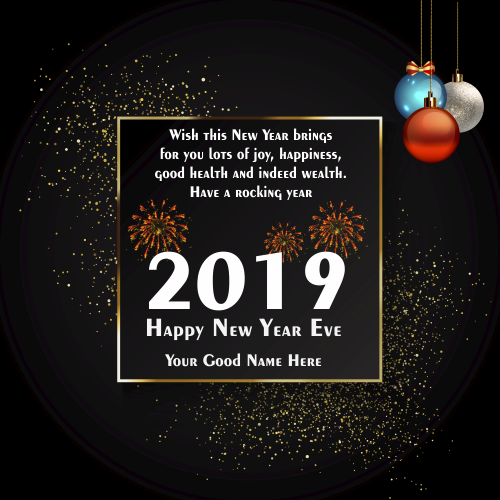 2019 Happy New Year Eve Greeting With Name