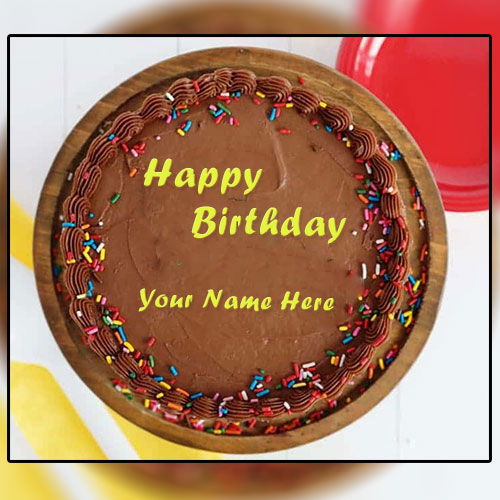 Write Name On Chocolate Birthday Cake With Name
