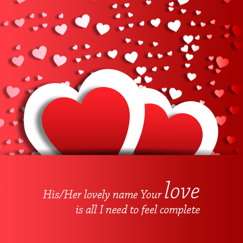 Write Name On Heart Love Wallpaper