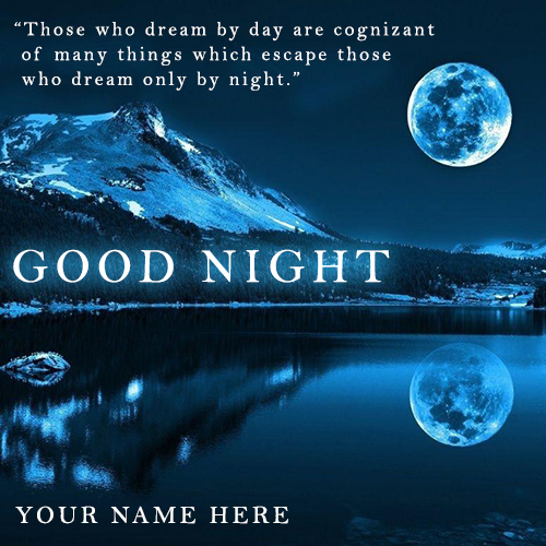 Good Night Wishes Picture With Name Image Online