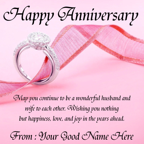 Write Name On Anniversary Ring Engraving