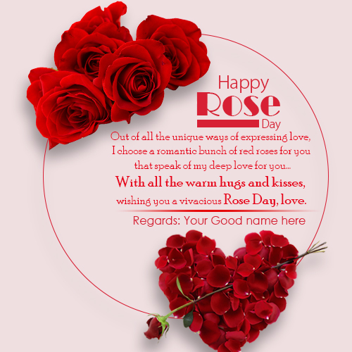 Happy Rose Day Wishes Quotes Image With Name