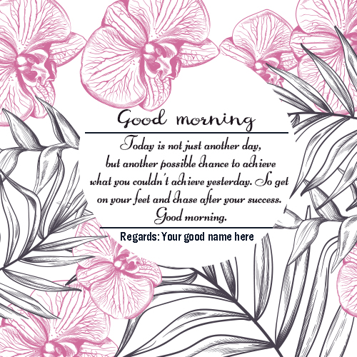 Good Morning Flower Card Picture Edit Online