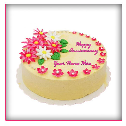 Marriage Anniversary Cake With Names and Images