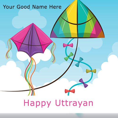 Happy Uttarayan Wishes With Name