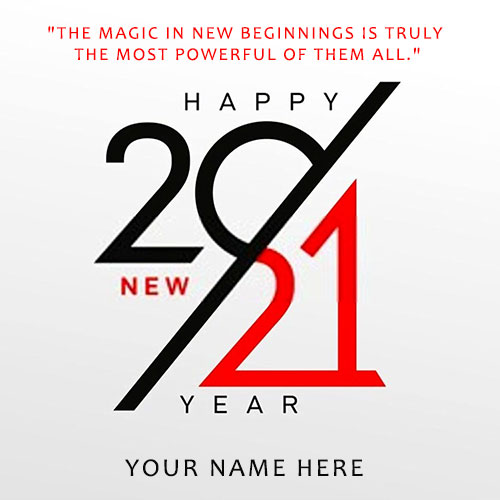 Advance New Year 2021 Image With Name Edit