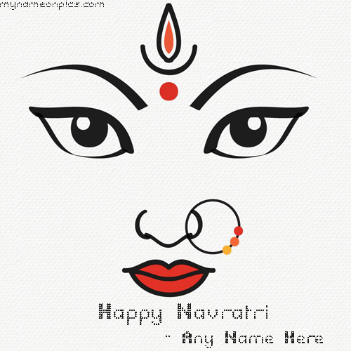 Write Your Name On Happy Navratri Wishes With Maa Ambe Pics