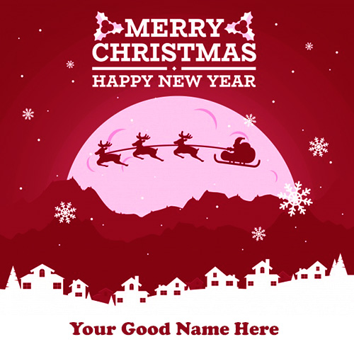 Merry Christmas Wishes Greetings Cards Images With Name