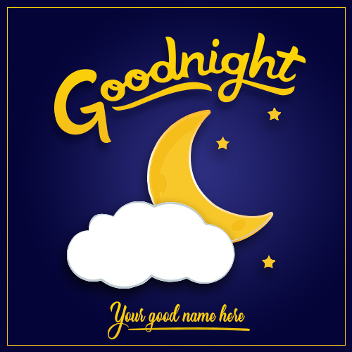 Good Night Half Moon Picture With Name