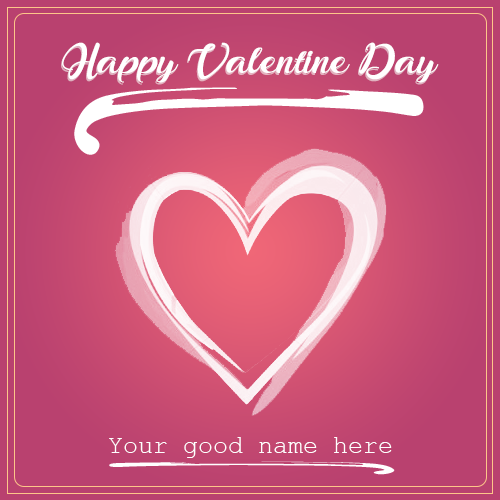 Happy Valentine Day Card With Name