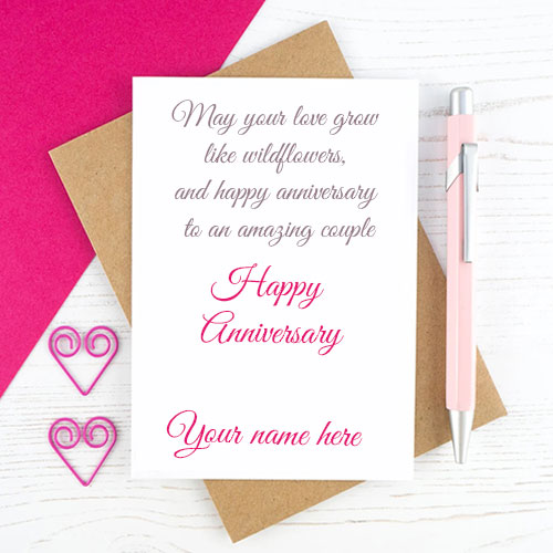 Marriage Anniversary Wishes For Couples Name Edit