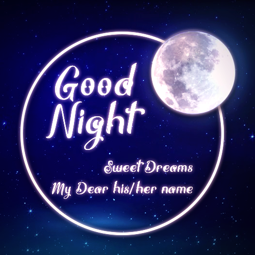Write Name On Good Night Sweet Dreams
