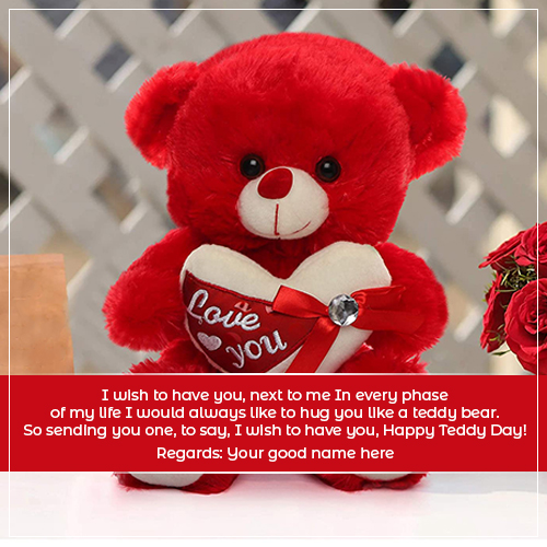 Happy Teddy Day Wishes Quotes Images With Name