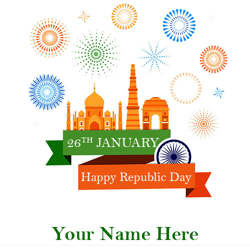 71th Republic Day Image With Name