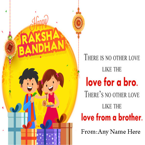 Write Name on Happy Raksha Bandhan Quotes Pics