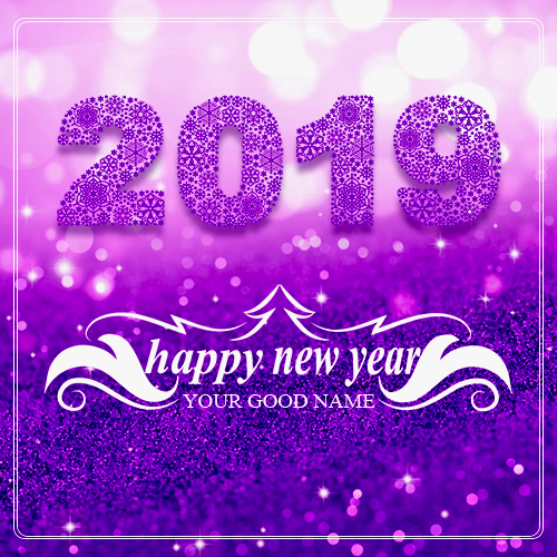 2019 Happy New Year wishes With Name
