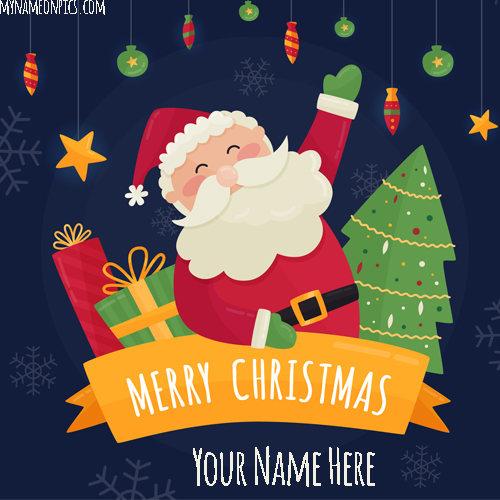 Xmas Tree Santa Claus 2018 Image With Name