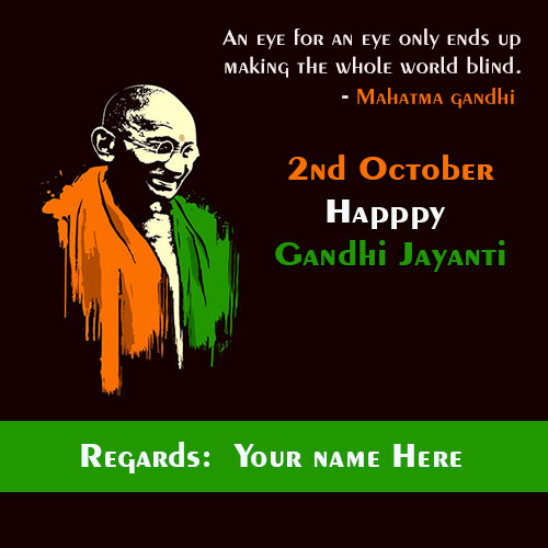 Gandhi Jayanti Images With Name and Photo