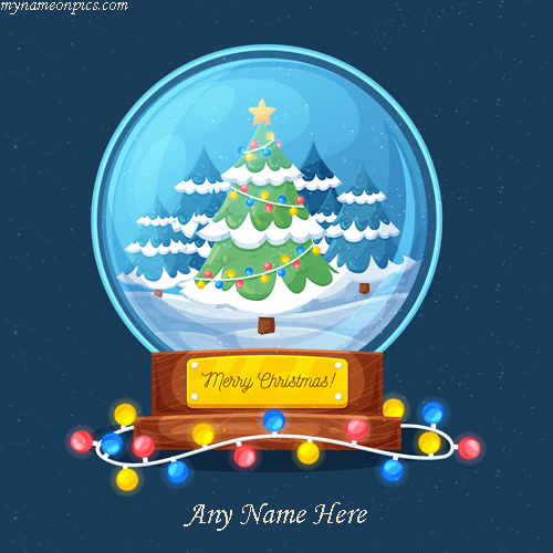 Happy Christmas Xmas Tree 2018 Image With Name