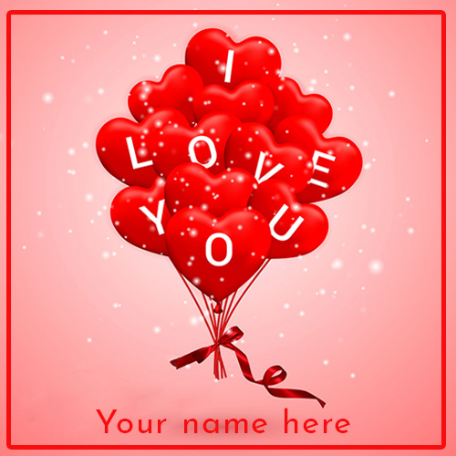 I Love You Red Balloons Images With Name