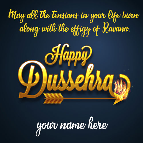 Happy Dussehra Wishes Quotes Images With Name
