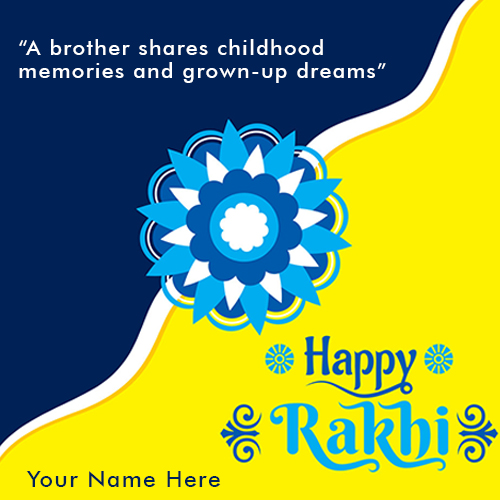 2020 Raksha Bandhan Wishes Card With Name and Photo
