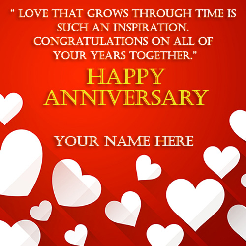 Anniversary Wishes For Couples With Name Edit