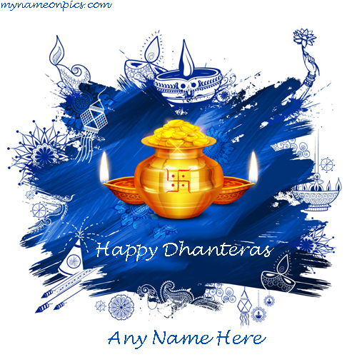 Happy Dhanteras Image 2018 With Name