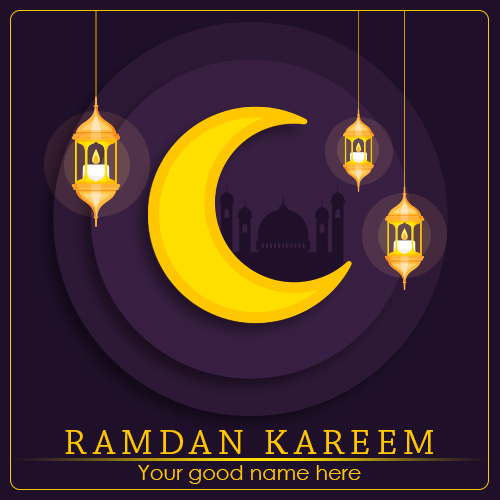 Write Name On Ramadan Kareem Greetings Image