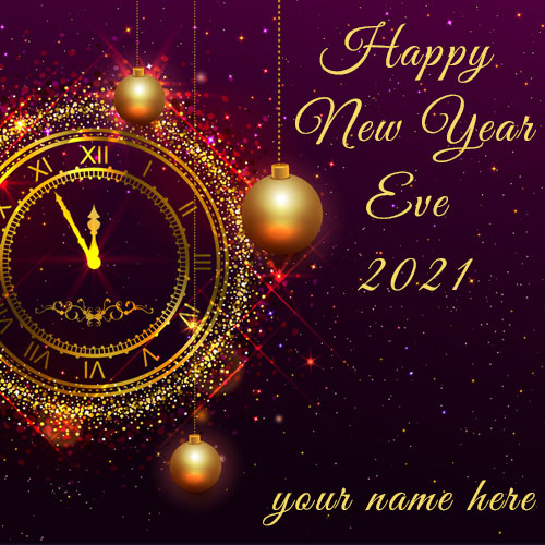 Happy New Year Eve 2021 Wallpaper With Name