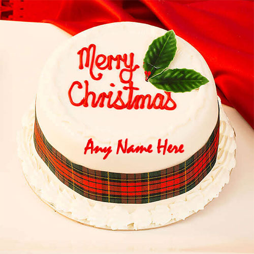 Write Name On Merry Christmas Cake Images