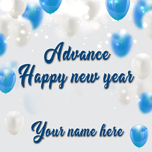 Happy New Year Images With Name and Photo Edit