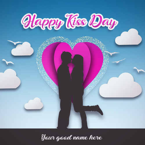 Write Name On Happy Kiss Day Wishes