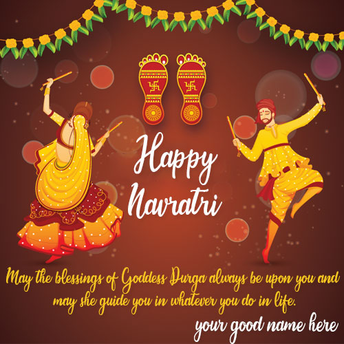 Write Name On Happy Navratri Wishes Quotes Pics Name