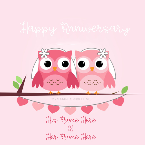 Write Name On Happy Anniversary Card With Name