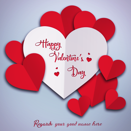 Valentine's Day 2019 Image With Name